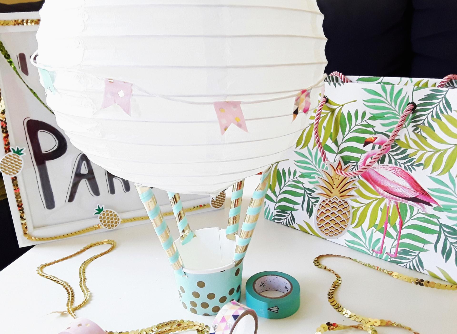 Papier Heissluftballon Als Geschenkverpackung Madebylothis Kreativblog