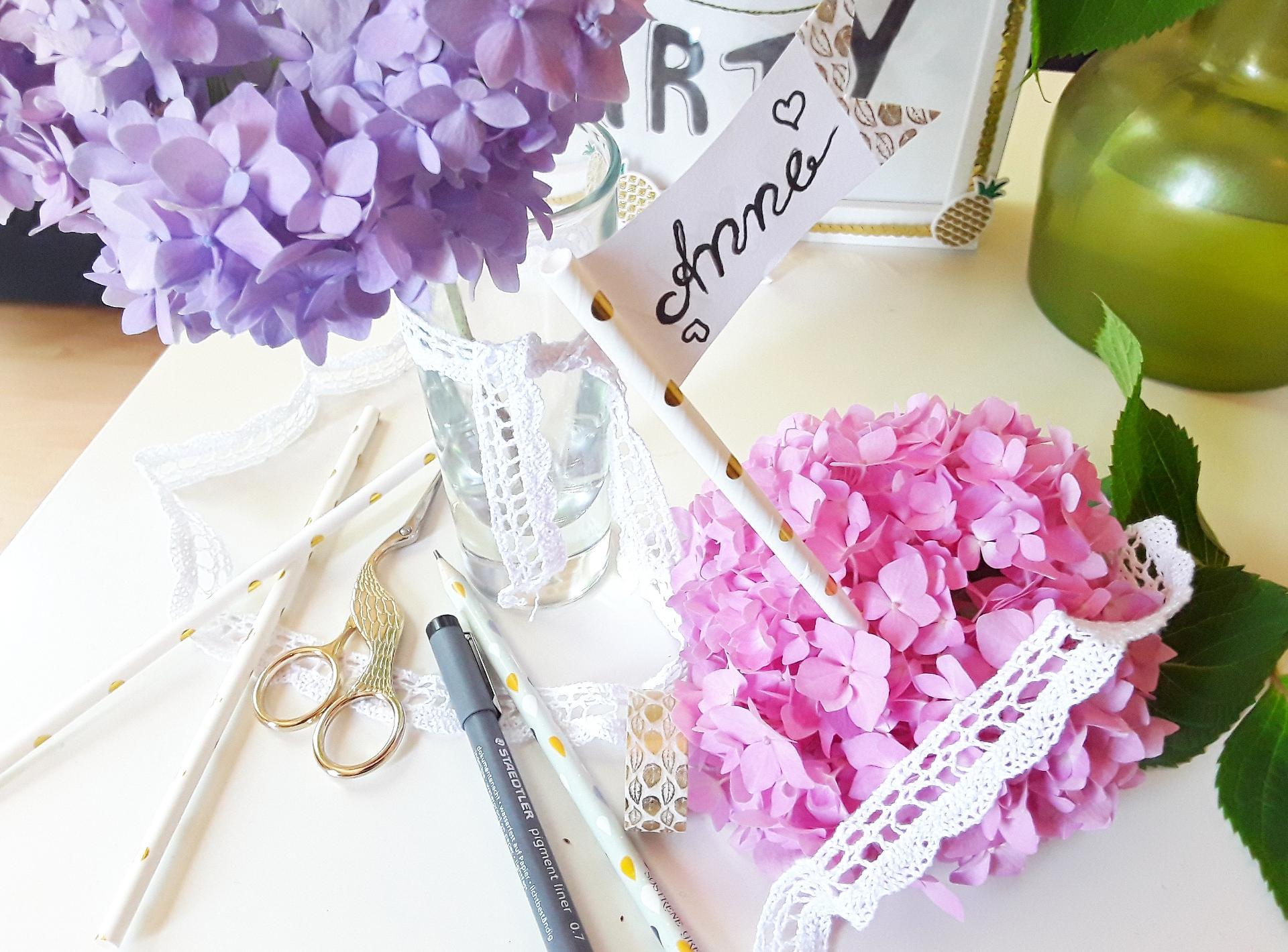 Tischdekoration selber machen für Hochzeit, Geburtstag, Taufe